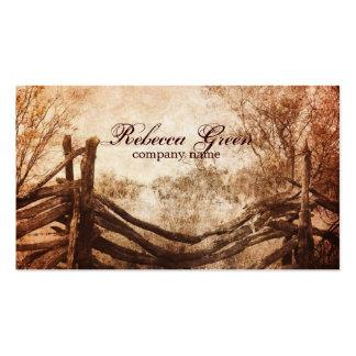 rustic western country farm wedding business card
