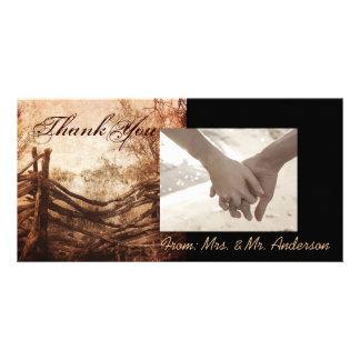 rustic western country farm wedding card