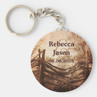 rustic western country farm wedding favor keychain