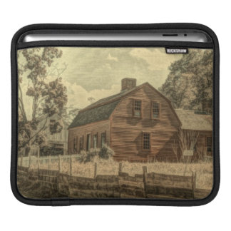 Rustic Western Country Farmhouse Chic Red Barn Sleeve For iPads