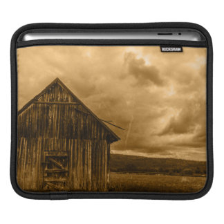 rustic western country farmhouse old barn iPad sleeve