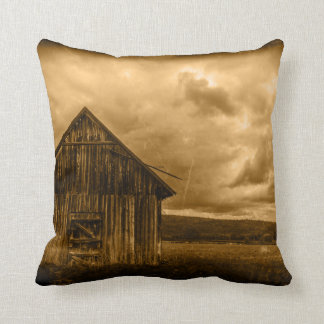 rustic western country farmhouse old barn throw pillow