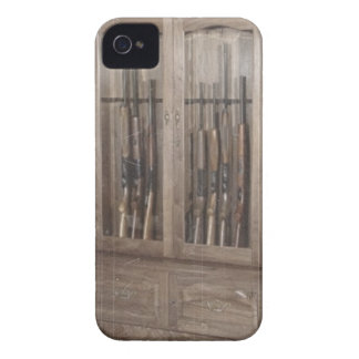 Rustic Western Country Firearm Gun Cabinet Rifles iPhone 4 Case-Mate Case