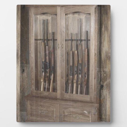 Rustic Western Country Firearm Gun Cabinet Rifles Plaque