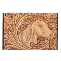 rustic western country leather equestrian horse cover for iPad air