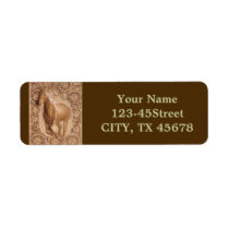 rustic western country leather equestrian horse label
