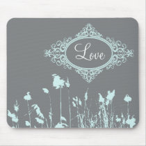 rustic western country outdoor wedding mouse pad