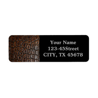 Rustic western country pattern tooled leather label