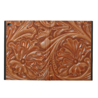 Rustic western country pattern tooled leather powis iPad air 2 case