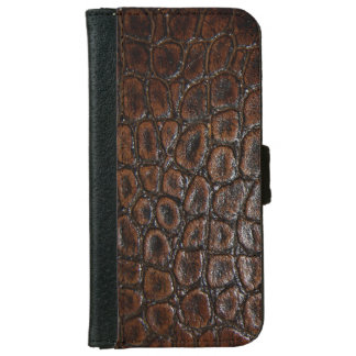 Rustic western country pattern tooled leather wallet phone case for iPhone 6/6s