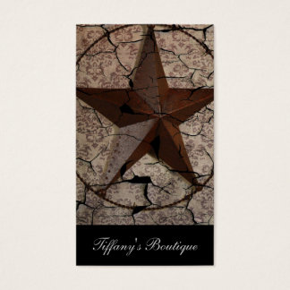 Rustic Western Country Primitive Texas Star Business Card