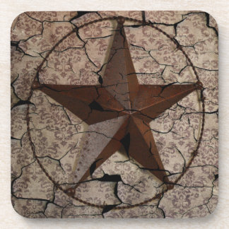 Rustic Western Country Primitive Texas Star Coaster