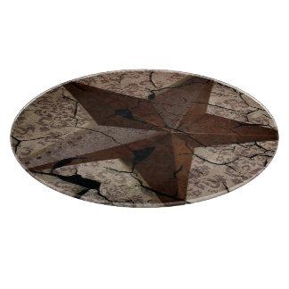 Rustic Western Country Primitive Texas Star Cutting Board