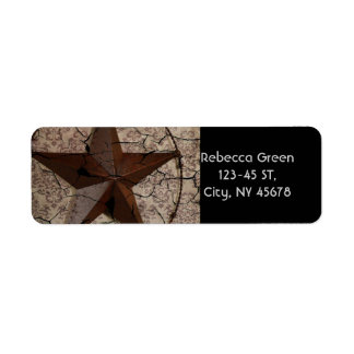 Rustic Western Country Primitive Texas Star Label