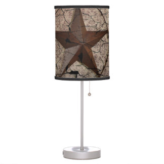 Rustic Western Country Primitive Texas Star Table Lamp