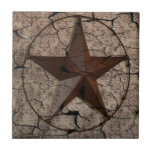 """Rustic Western Country Primitive Texas Star Tile<br><div class=""""desc"""">Rustic Western Country Primitive Texas Star accessories for country homes and wild west saloon man cave.  Primitive lone star home accents. western cowboy wedding favors.</div>"""