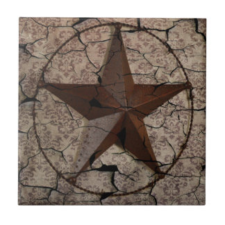 Rustic Western Country Primitive Texas Star Tile