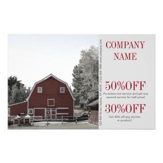 rustic western country red barn Organic farm Flyer