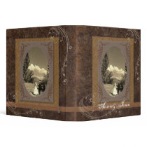rustic western country steampunk wedding binder