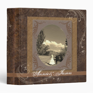 rustic western country steampunk wedding binder