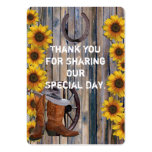 Rustic western cowboy favor thank you tag large business cards (Pack of 100)