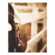 Rustic western cowboy horse saddle wedding letterhead