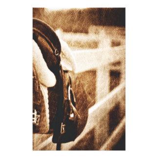 Rustic western cowboy horse saddle wedding stationery