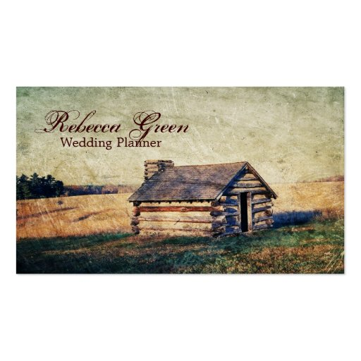 rustic western farm cottage country wedding business cards