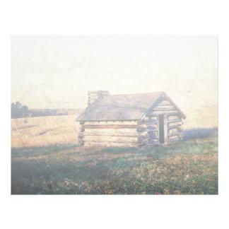 rustic western farm cottage country wedding letterhead