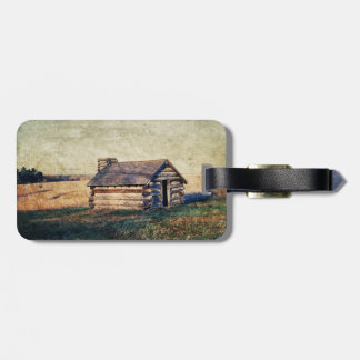rustic western farm cottage country wedding tag for bags