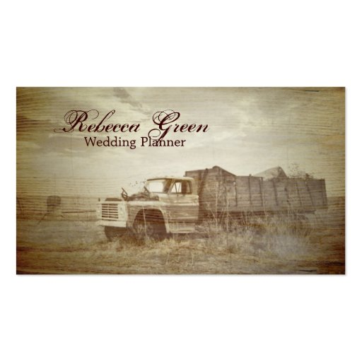 rustic western farm truck country fashion business card templates