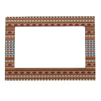 Rustic Western Pattern Magnetic Photo Frame