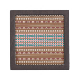 Rustic Western Pattern Wood Gift Box 2x2
