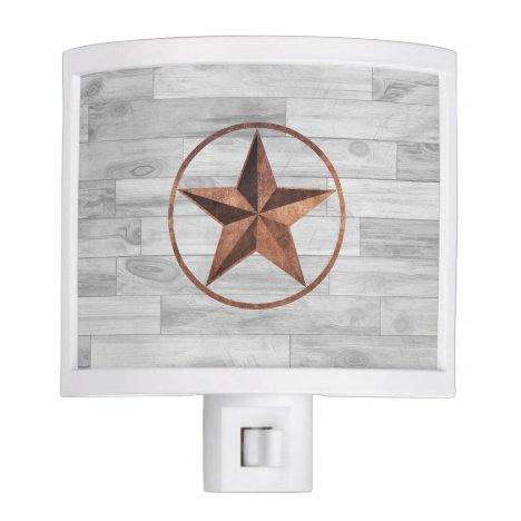 Rustic Western Style Star Night Light