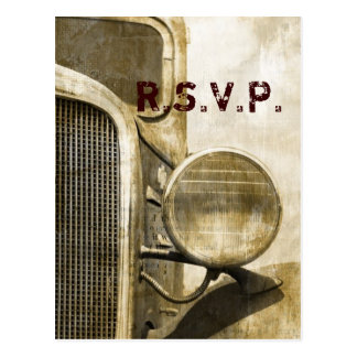 rustic western vintage truck country wedding post cards