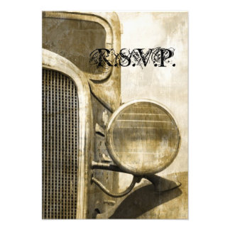 rustic western vintage truck country wedding RSVP Personalized Announcements