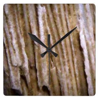 Rustic Western Wood Square Clock