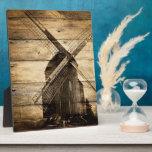 rustic western woodgrain windmill country wedding display plaques