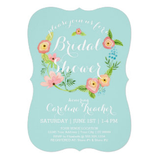 Rustic Whimsical Granny Chic Hipster Floral Bridal Card