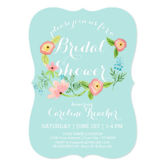Rustic Whimsical Granny Chic Hipster Floral Bridal Custom Invite