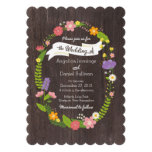 Rustic Whimsical Woodland Floral Wreath Wedding Cards