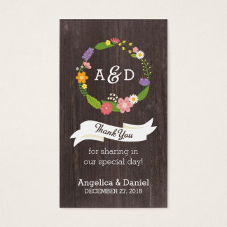 Rustic Whimsical Woodland Wreath Favor Tag Business Card