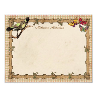 Rustic Whimsy Personalized Flat Note Cards