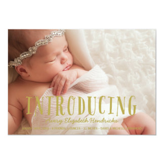 Rustic Whimsy | Photo Birth Announcement