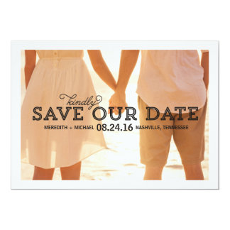 Rustic Whimsy | Photo Save the Date 5x7 Paper Invitation Card