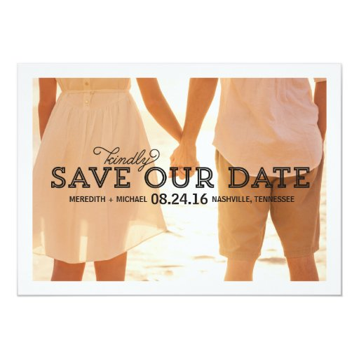 Rustic Whimsy | Photo Save the Date Invitation