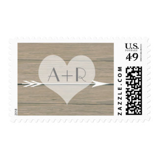 Rustic whimsy wedding postage stamp