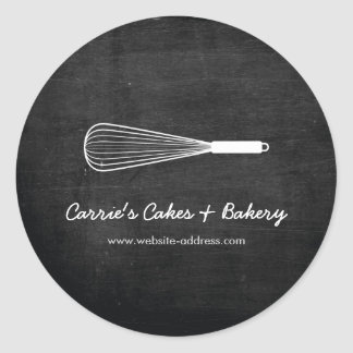 Rustic Whisk Logo Bakery, Catering Stickers