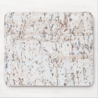 rustic white cork wood mouse pad