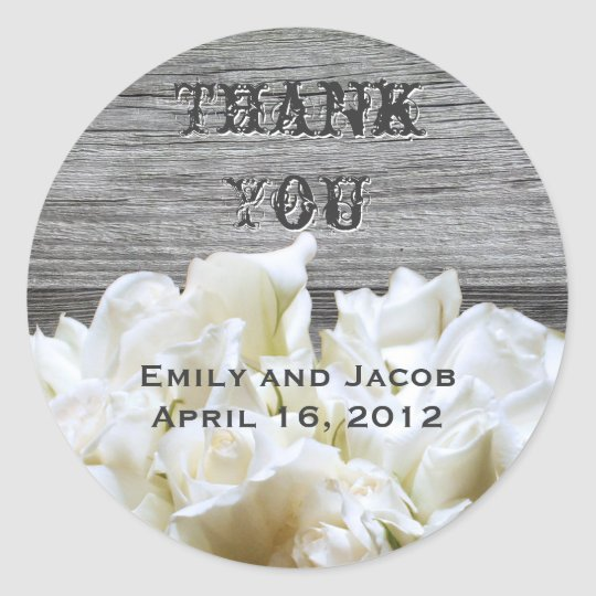 Rustic White Flowers Favor Tags